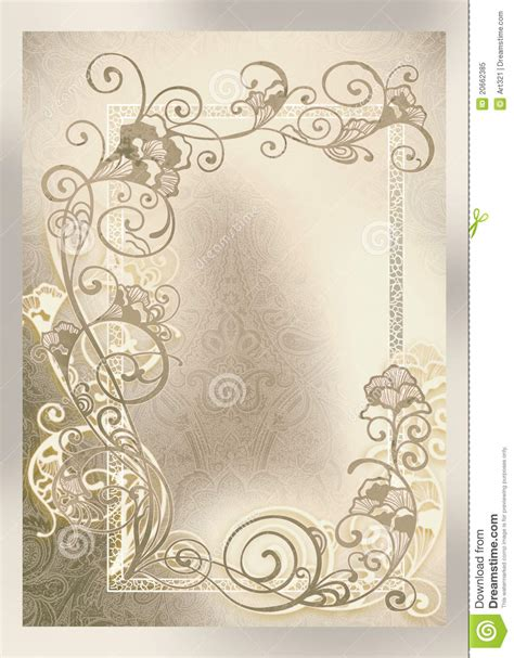 wedding invitation frame lace  royalty  stock