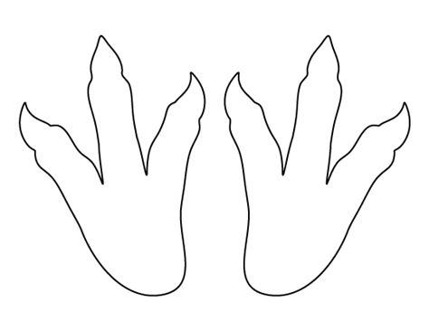 printable dinosaur footprints template