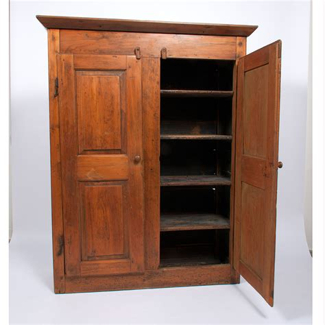 Pine Cupboard Door by Two Door Pine Cupboard Cowan S Auction House The