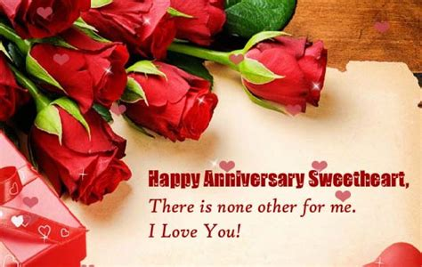 happy anniversary sweetheart    ecards