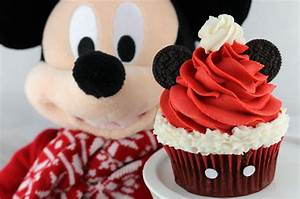 Mickey Mouse Santa Hat Cupcakes - Two Sisters