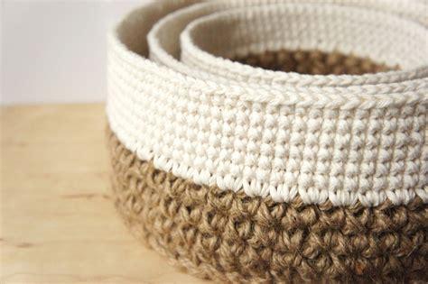 crochet basket crochet pattern round stacking baskets jakigu