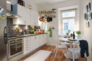 ideas for small kitchens layout hunky design ideas of small apartment kitchens with wooden floors also corner table set plus