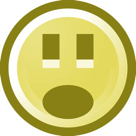 shocked smiley face clip art illustration