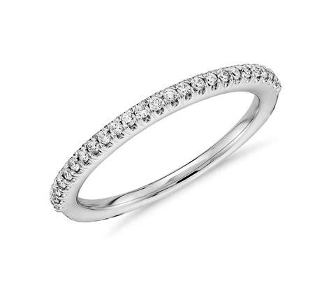 pav 233 diamond wedding ring in 14k white gold 1 6 ct tw blue nile