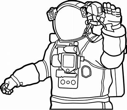 Astronaut Space Suit Drawing Clipart Moon Outer