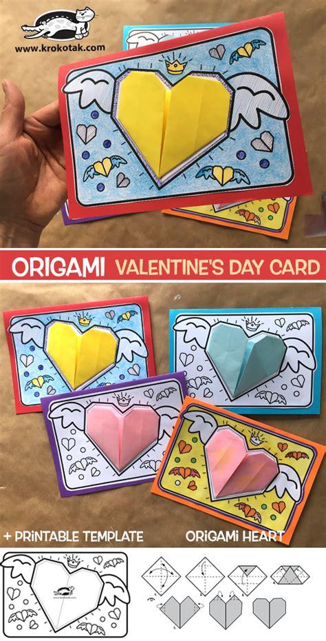 krokotak ORIGAMI VALENTINE S DAY CARD