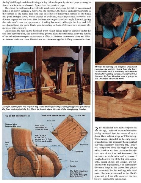 carving ball  claw foot woodarchivist