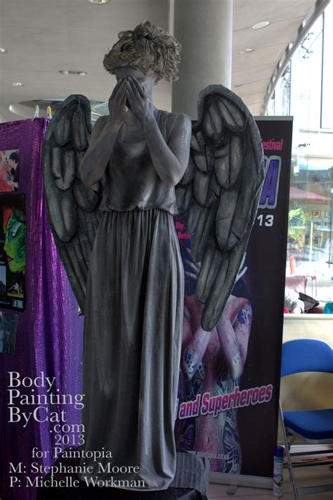 weeping angel bodypaint dr  forum body painting  cat