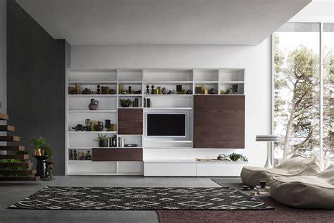 libreria salotto e soggiorno un soggiorno in legno e bianco napol arredamenti