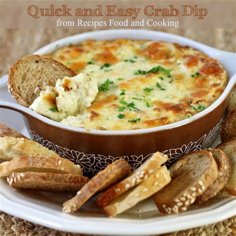cuisine and cook easy and crab dip
