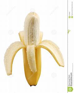 Half Peeled Banana Isolated Stock Image - Image: 2734807