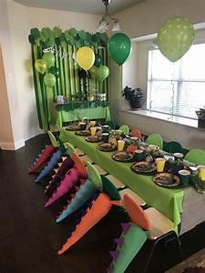 Diy, Dinosaur, Birthday, Party, Ideas, For, A, U0026quot, Rawring, U0026quot, Good, Time