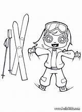Ski Skis Coloring Pages Drawing Winter Slope Skiing Sport Template Rossignol Print Hellokids Jit Atomic Dk Drive Sketch Bindings sketch template