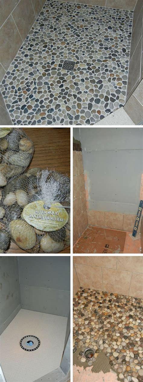 diy bathroom floor ideas best 25 river rock bathroom ideas on pinterest river rock shower showers and river rock tile