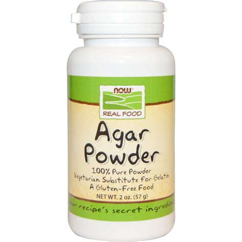 now foods food agar powder 2 oz 57 g iherb com