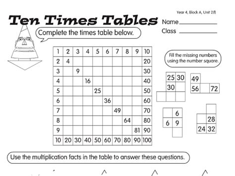 test 4 times tables worksheets times table tests a year 4 times tables worksheet