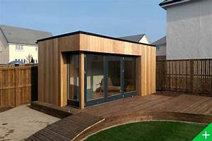 studio de jardin a toit plat en ossature bois With delightful maison bois toit plat 16 extension de maison en bois