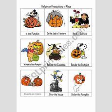 Halloween Prepositon Of Place Flashcards  Esl Worksheet By Vickiii