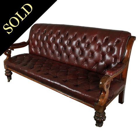 Leather Settee Repair by Antique Leather Settee Mahogany Settee