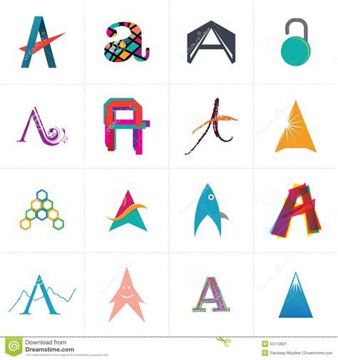 alphabet letter a logo design stock vector image 54713601