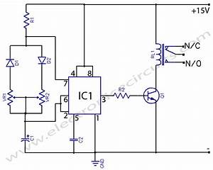 timer circuit page 10 meter counter circuits nextgr With simple time delay circuit using the ne555 timer ic in monostable