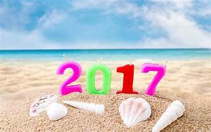 Happy New Year 2017 Candle In Beach Sand Wallpaper 11969 ...