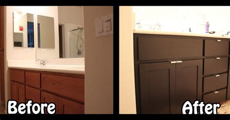 cabinet refinishing kit before and after inside the frame the master bathroom project