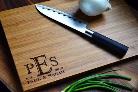 Personalized Cutting Board Engraved Bamboo Wood