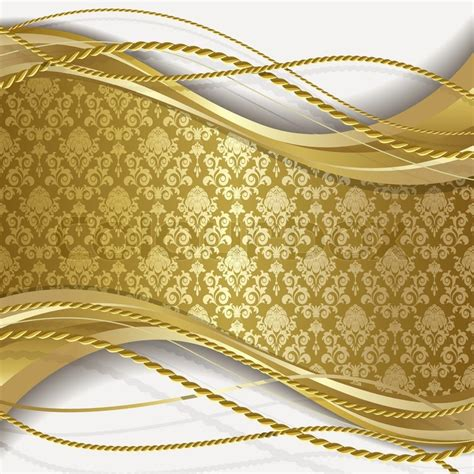 Gold White Background by White Background With Gold Flowers And Stock Vector