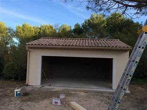 Construction d39un garage en parpaings a ventabren for Construction d un garage en parpaing
