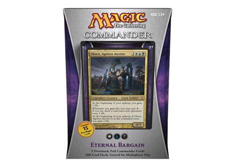mtg commander 2013 evasive maneuvers deck list commander 2013 eternal bargain deck magic products