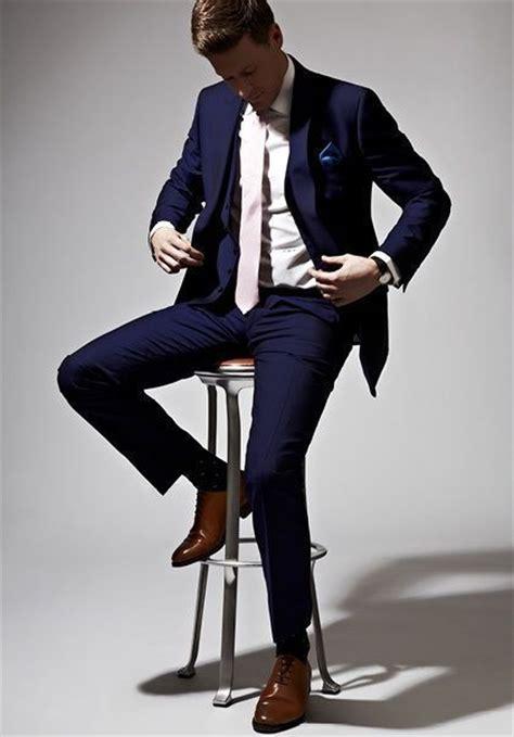 navy blue slim suit pictures   images
