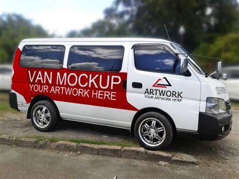 vehicle branding mockup psds