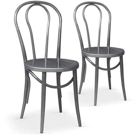 chaise de cuisine style bistrot chaises bistrot argent coste lestendances fr