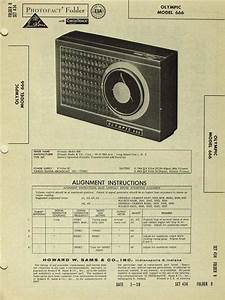 Olympic Model 666 Transistor Radio Sams Photofact