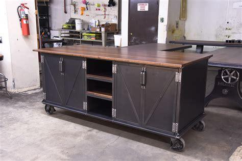ellis kitchen island vintage industrial furniture