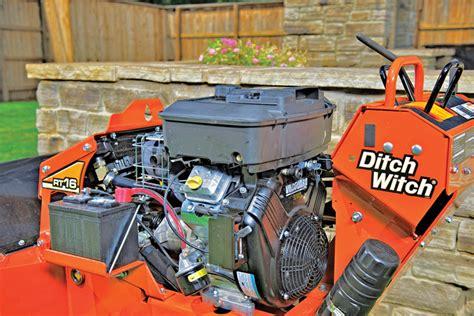 walk  trencher maintenance compact equipment