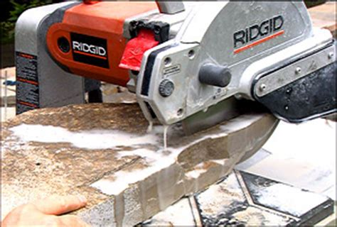 Ridgid Tile Saw Wts2000l by Current Programming Retaining Wall