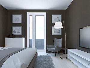 peinture gris bleu pour chambre With awesome quel mur peindre en fonce 12 conseils pour mon couloir