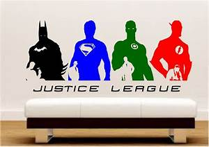 dc comics justice league silhouette wall art stickers With amazing justice league wall decals