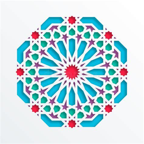 printable geometric shape ornaments islamic geometric pattern vector 3d muslim mosaic