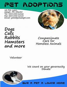 dog adoption flyer template - 71 best free flyer templates images on