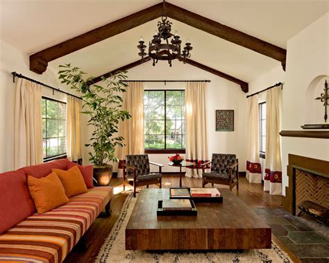 spanish living room mediterranean with traditional
