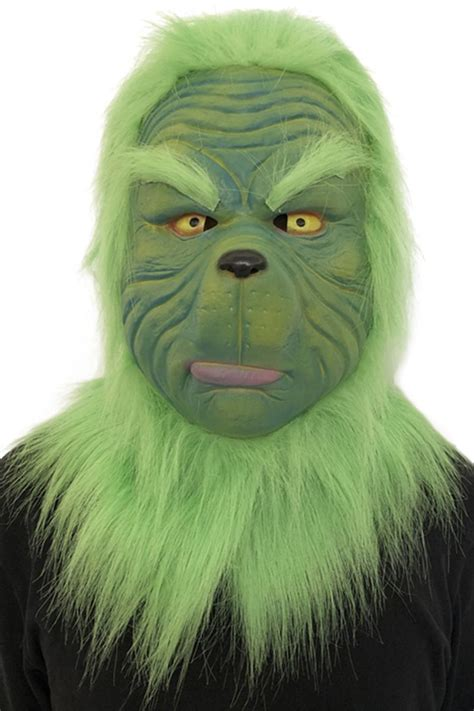 grinch stole christmas grinch mask adult latex