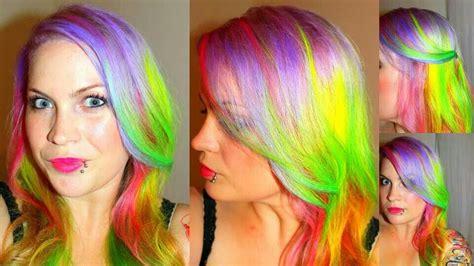cherry colored funk pravana neons pretty awesome rainbow hairc princess