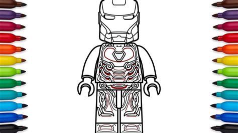 draw lego iron man mark   marvels avengers
