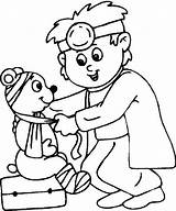 Doctor Coloring Hospital Preschool Colouring Craft Theme Helpers sketch template