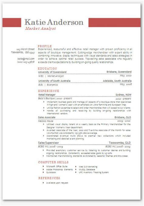 modern microsoft word resume template 03