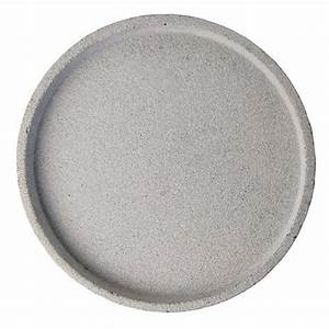 leo bella zakkia concrete round tray natural With cement letter tray